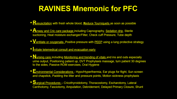 RAVINES Mnemonic: A Practical Approach to Care after SMARCH-E-PAWS-B