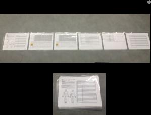Laminated with one sheet of acetate laminate
