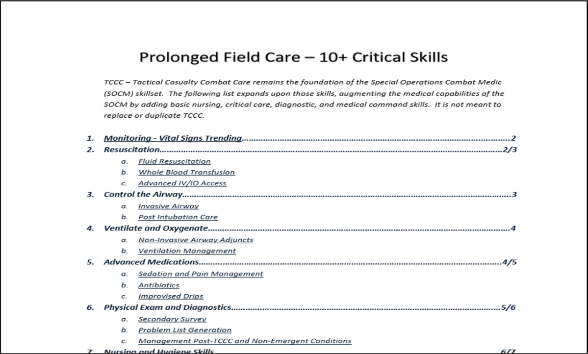 Podcast Episode 28: Critical Skills for Prolonged Field CareProviders